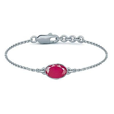 Pink Sapphire Sterling Silver Bracelet (B2) for Women