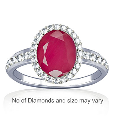 Pink Sapphire Sterling Silver Ring (R1-Dazzle)