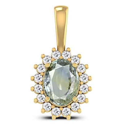 Pitambari Neelam Gold Pendant (D4 SPARKLE)