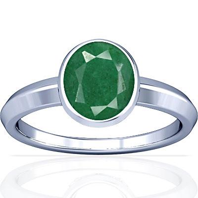 Green Beryl Sterling Silver Ring (A1)