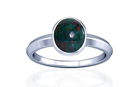 Bloodstone Silver Ring (A1)