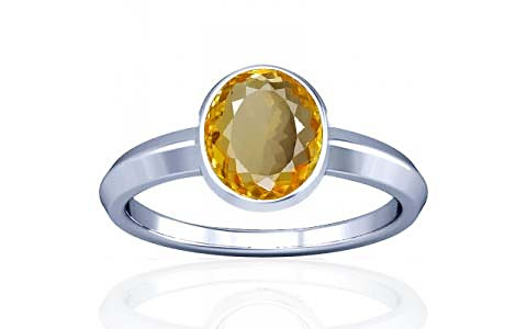 Citrine Silver Ring (A1)