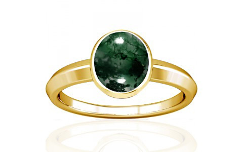 Moss Agate Gold Ring (A1)