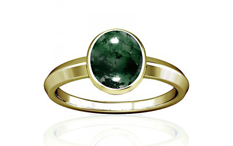 Moss Agate Panchdhatu Ring (A1)