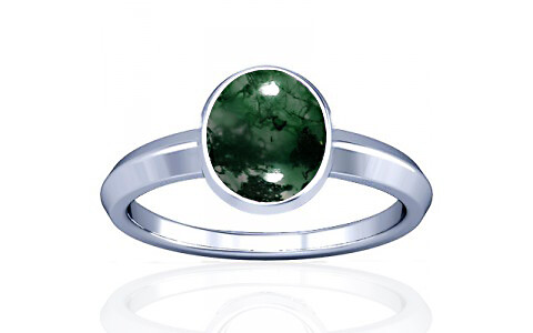 Moss Agate Silver Ring (A1)