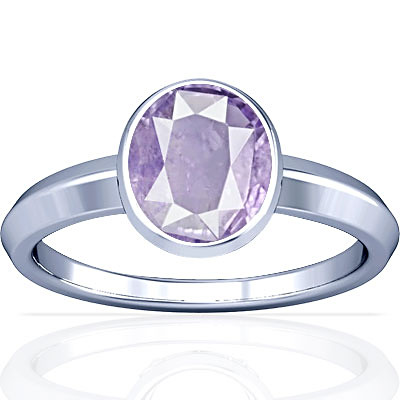 Purple Sapphire Sterling Silver Ring (A1)