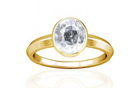 White Zircon Gold Ring (A1)