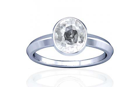 White Zircon Silver Ring (A1)