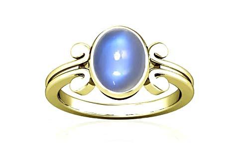 Blue Sheen Moonstone Panchdhatu Ring (A10)