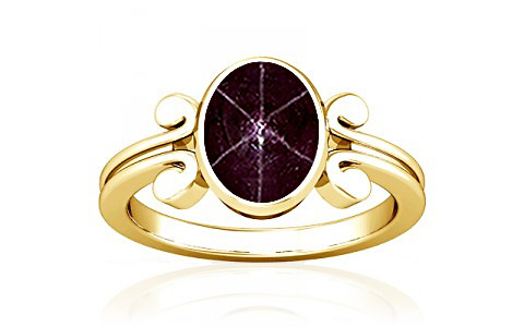 Star Ruby Gold Ring (A10)