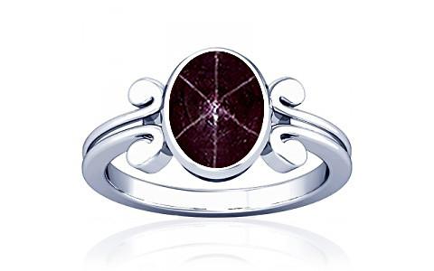 Star Ruby Silver Ring (A10)