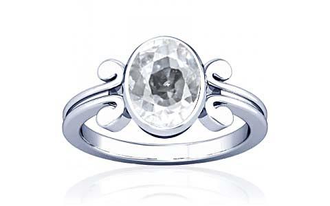 White Zircon Silver Ring (A10)
