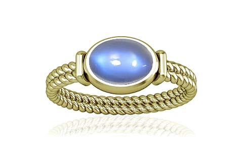 Blue Sheen Moonstone Panchdhatu Ring (A11)