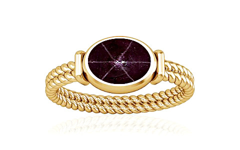 Star Ruby Gold Ring (A11)