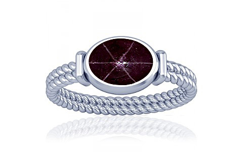 Star Ruby Silver Ring (A11)