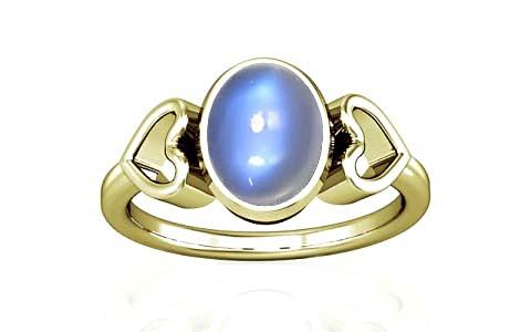 Blue Sheen Moonstone Panchdhatu Ring (A12)