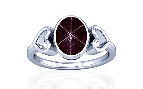 Star Ruby Silver Ring (A12)