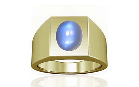 Blue Sheen Moonstone Panchdhatu Ring (A13)