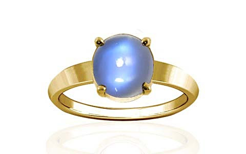 Blue Sheen Moonstone Gold Ring (A18)