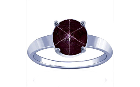 Star Ruby Sterling Silver Ring (A18)