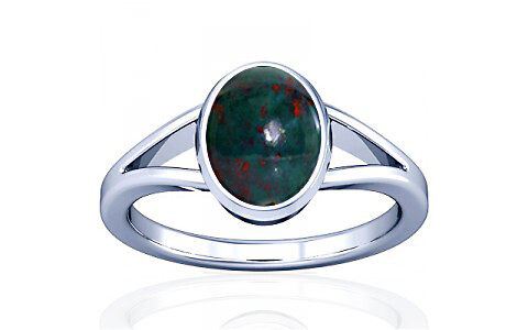 Bloodstone Silver Ring (A2)