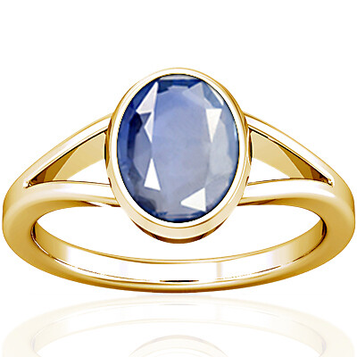 Blue Sapphire Gold Ring (A2)