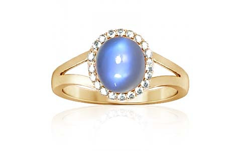 Blue Sheen Moonstone Gold Ring (A2-Sparkle)