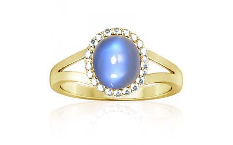Blue Sheen Moonstone Panchdhatu Ring (A2-Sparkle)
