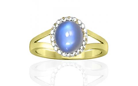 Blue Sheen Moonstone Sterling Silver Ring (A2-Sparkle)
