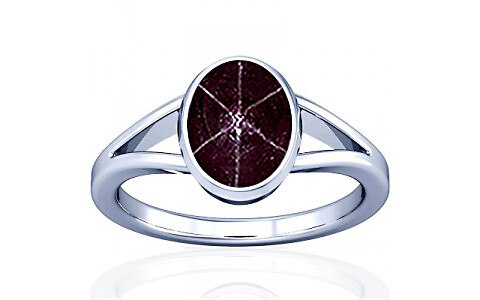 Star Ruby Silver Ring (A2)