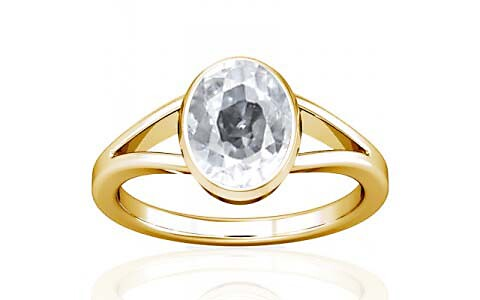 White Zircon Gold Ring (A2)