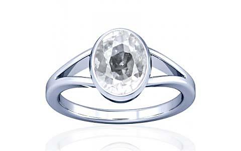 White Zircon Silver Ring (A2)