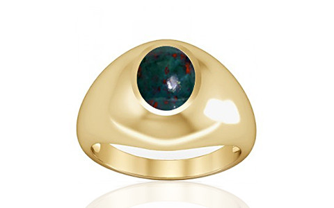 Bloodstone Gold Ring (A3)
