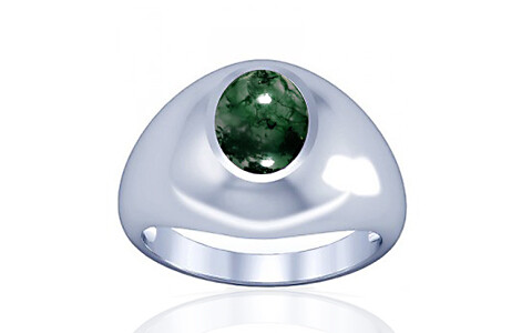Moss Agate Silver Ring (A3)