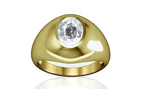 White Zircon Panchdhatu Ring (A3)
