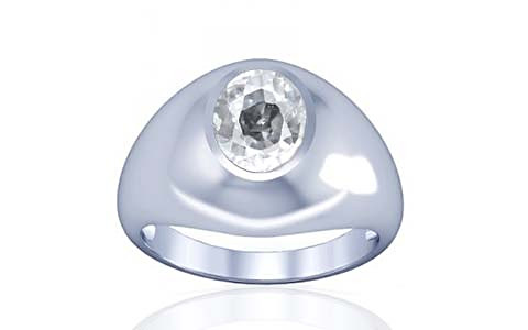 White Zircon Silver Ring (A3)