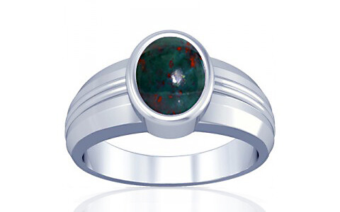 Bloodstone Silver Ring (A4)