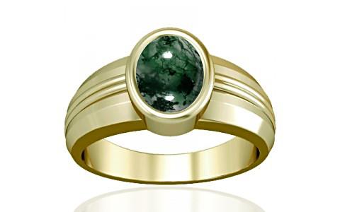 Moss Agate Panchdhatu Ring (A4)