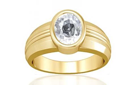 White Zircon Gold Ring (A4)