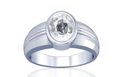 White Zircon Silver Ring (A4)