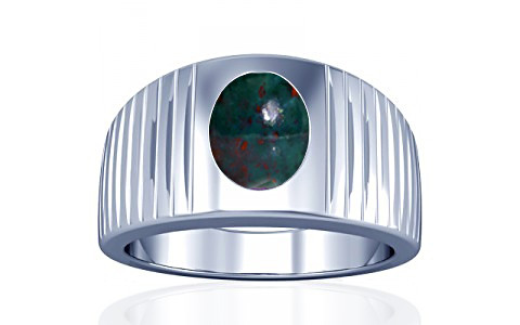 Bloodstone Silver Ring (A5)