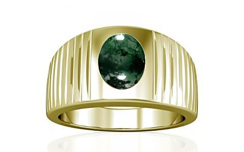 Moss Agate Panchdhatu Ring (A5)
