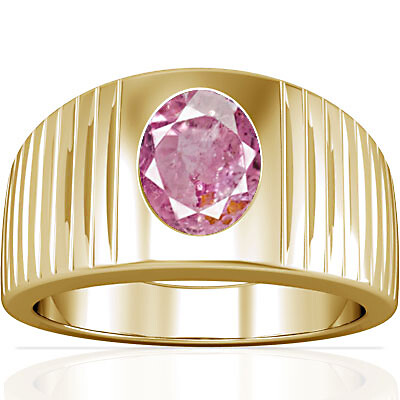 Pink Sapphire Gold Ring (A5)