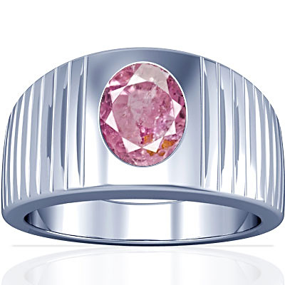 Pink Sapphire Sterling Silver Ring (A5)