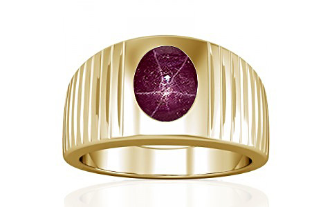 Star Ruby Gold Ring (A5)