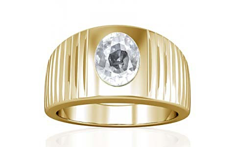White Zircon Gold Ring (A5)