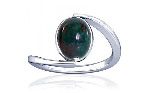 Bloodstone Silver Ring (A6)
