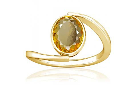 Citrine Gold Ring (A6)