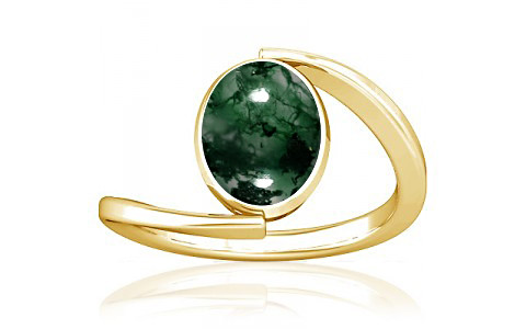Moss Agate Gold Ring (A6)
