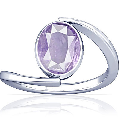 Purple Sapphire Sterling Silver Ring (A6)